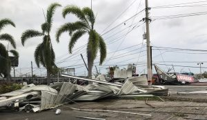 Hurricane damage in Carolina, Puerto Rico