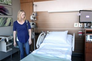 Amanda Edson tours the Birth Center at Longs Peak Hospital in September, prior to the birth of her son, Lucas.
