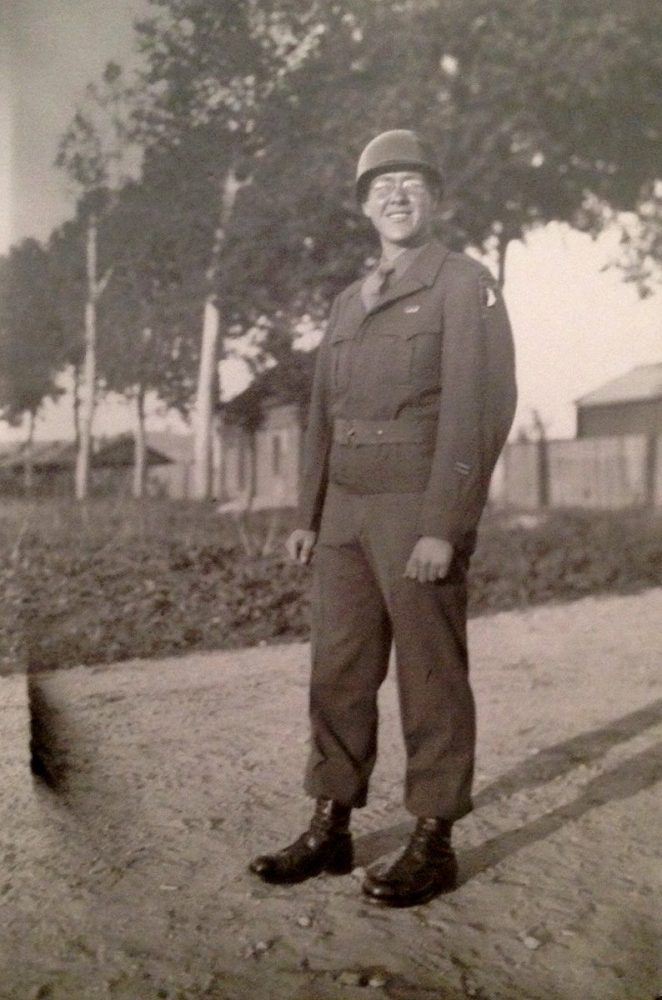 Pfc. Jim Ingram during WWII.