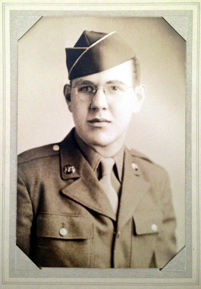 Pfc. Jim Ingram at the start of WWII.
