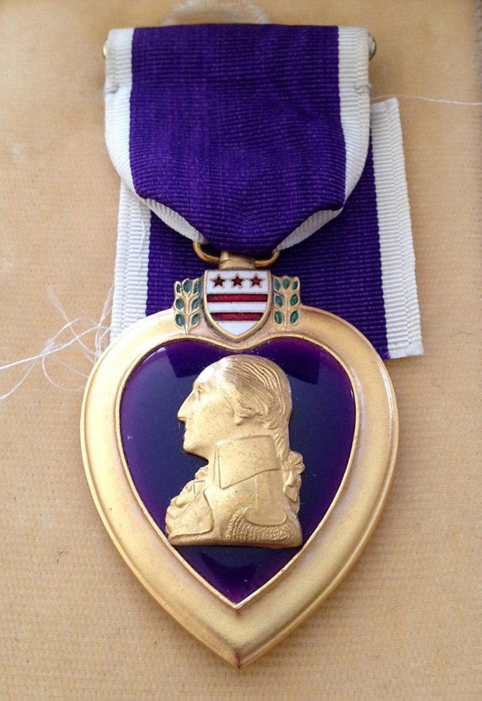 WWII Pfc. Jim Ingram received the Purple Heart after being injured during the 1944 WWII Battle of the Bulge.