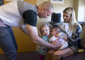 Harper found herself at the center of a rare group hug at UCHealth University of Colorado Hospital.