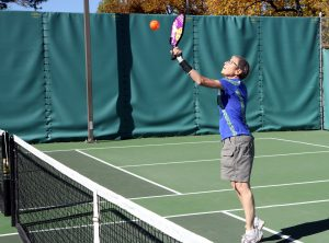 Barbara Smith plays pickleball in this photo. Smith was diagnosed with Parkinson's Disease in 2000.