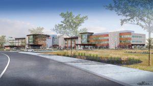 Crews raise key beam in UCHealth Greeley Hospital project