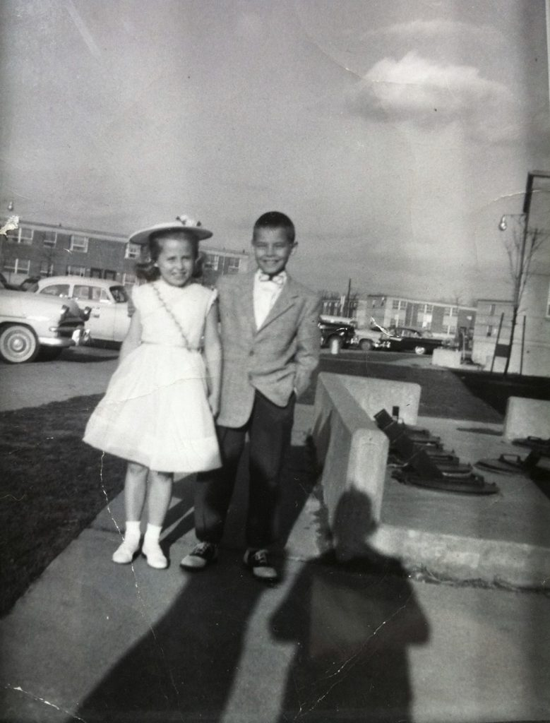 Mary Anna and Sonny Hutchison post for a picture as kids in Kentucky. They are dressed up to go to a movie. Sonny now has lung and arthritis problems. Doctors who worked together helped him figure out that rheumatoid arthritis can be related to lung problems.