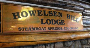 Howelsen Hill Lodge sign.
