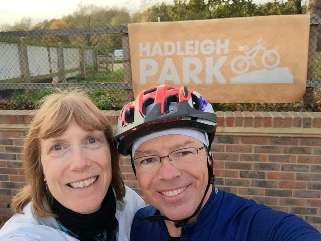 Marie and Aaron Macpherson at Hadleigh Park in November 2017.