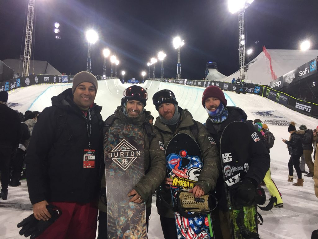 Dr. Sunil Jani offers gold-medal care at UCHealth Orthopedics Clinic-Longmont. Here he stands at the bottom of the halfpipe in Aspen where he tended to athletes during the X Games.