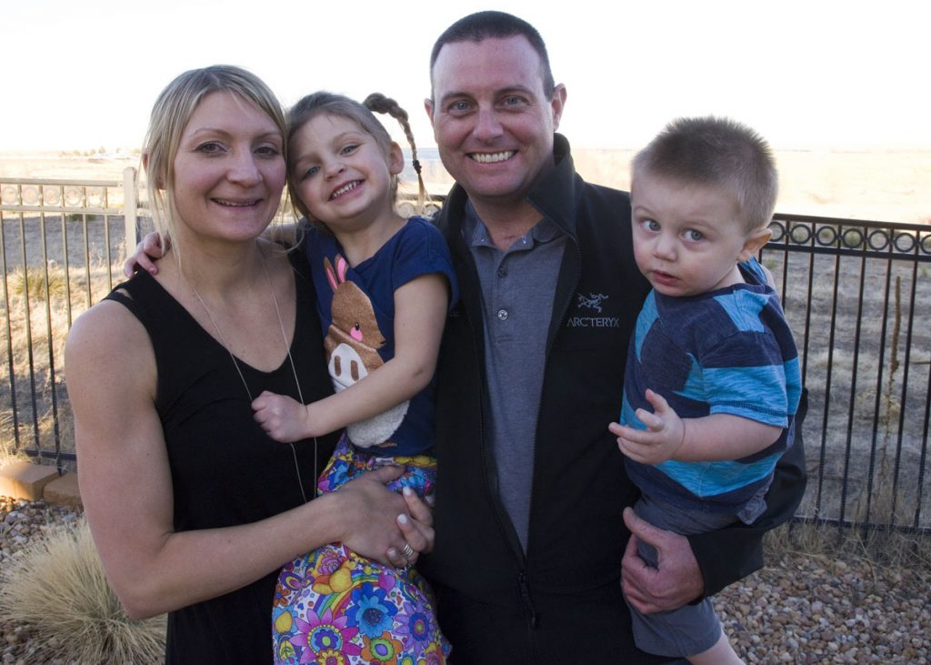Family photo of the Meguids after a rescue in Australia. From left to right, Cheryl, their daughter, Natalie, Rob, and their son, Cameron.