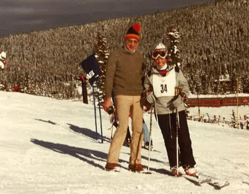 Debra Malone has dedicated her career to preventing sepsis deaths after losing her dad to sepsis. Here, she poses with her dad on the ski slopes.