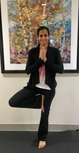 Hetal Mehta, a physical therapist and outpatient rehabilitation educator, strikes a yoga pose.