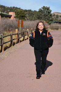 Linda Regis goes for a walk in Garden of the Gods Park