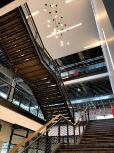 staircase inside the innovation hub