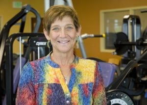 A photo of Kathy Jankowski, who plays important role in a study about prostate cancer and exercise