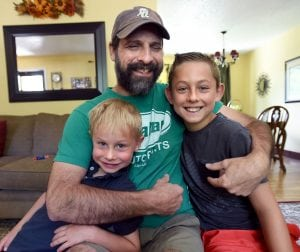Tom Essig with sons Colton, left and Wyatt (courtesy Amy Essig)