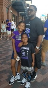 David Kenyatta with his younger daughter, Kennedi, 11, and son, DJ, 5. Photo courtesy of David Kenyatta.
