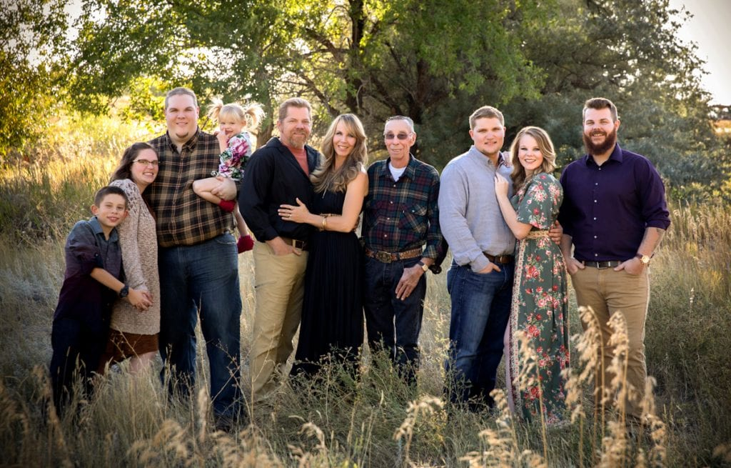 The Brinkerhoff family. Devyn Brinkerhoff poses with her fiance, her two brothers, her parents, her grandfather and her niece and nephew.