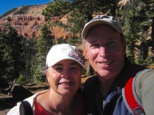 Sheree and Ken Kolar are pictured at Cedar Breaks National Monument near Cedar City, Utah.