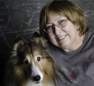 Sheri John with Lassie, her agility dog