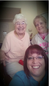 Suzie Stevenson with her mother and grandmother.