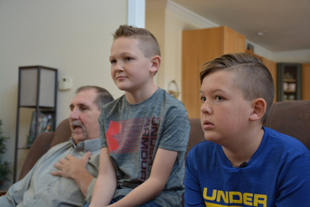 Terry Stauffer with his grandsons.