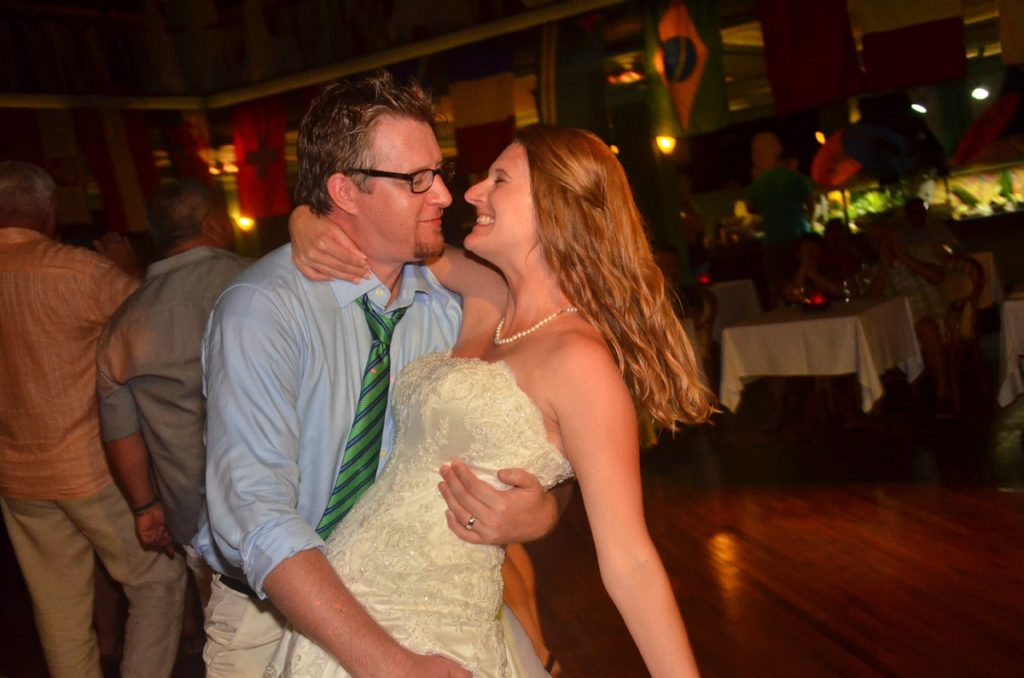 Jamie and Troy Ketchum dancing on their wedding day.