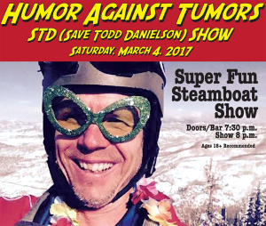 This is an ad for the February 2017 Super Fun Steamboat Show that benefited Danielson.