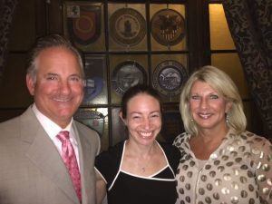 Dr. Hillary Yaffe, center, poses with transplant surgeons, Dr. Pomposelli and Dr. Pomfret
