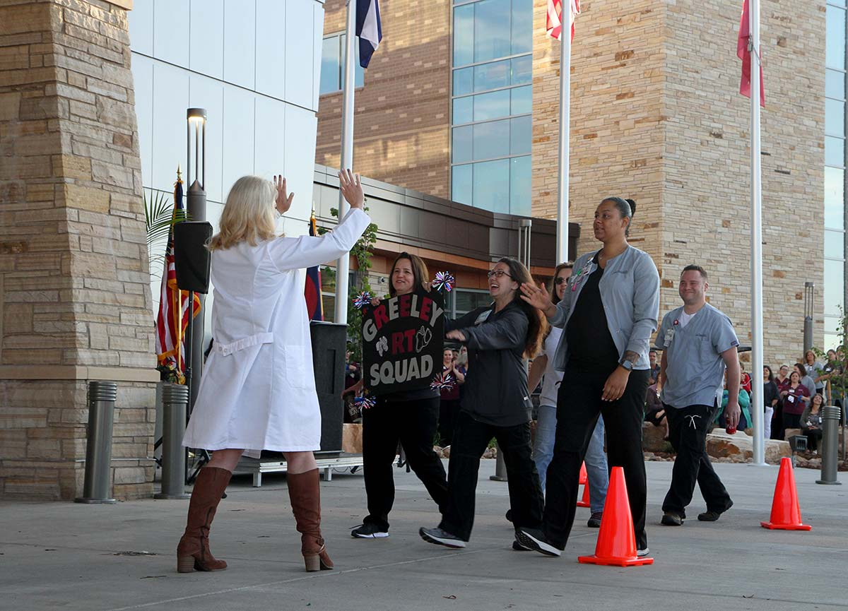 nurses celebrate Greeley Hospital opens