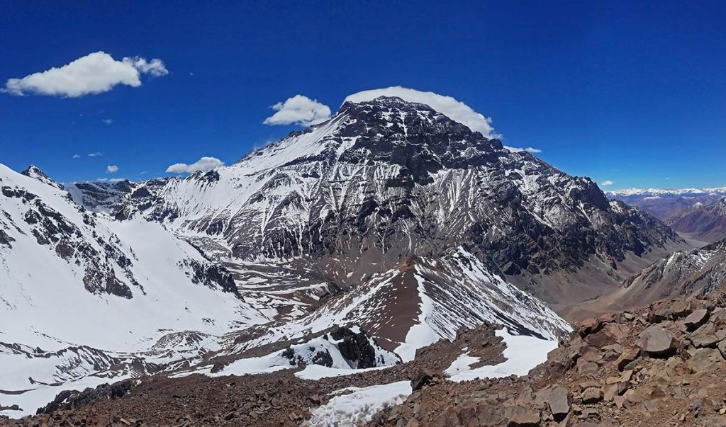 Aconcagua, the highest peak in the southern and western hemispheres
