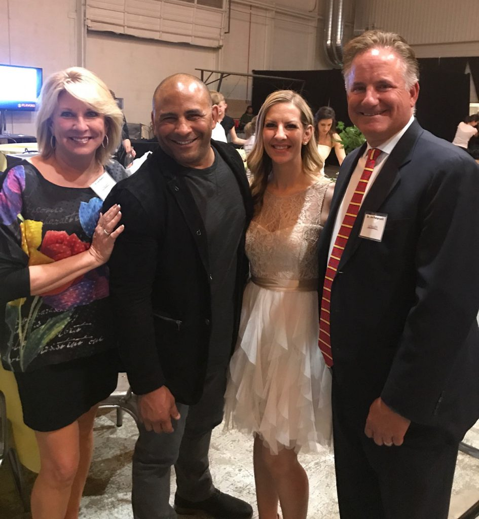 Jeff Bramstedt and his liver transplant recipient, Melinda Ray with their doctors, Elizabeth Pompret, left, and James Pomposelli, right.