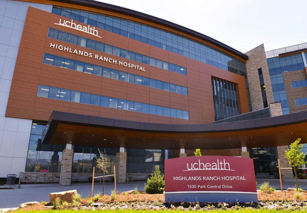 A photo of UCHealth Highlands Ranch Hospital