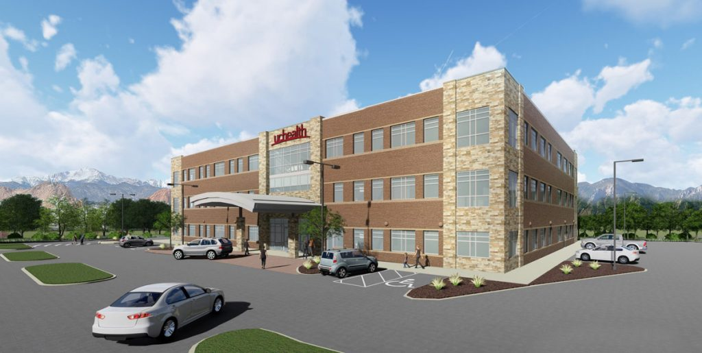 An artist's rendering of UCHealth Grandview Medical Center