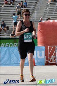 Kim running in a race