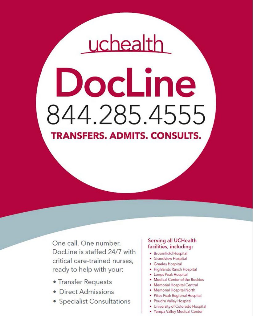 DocLine is a 24/7 service. Medical providers can call 844-2285-4555 for help.
