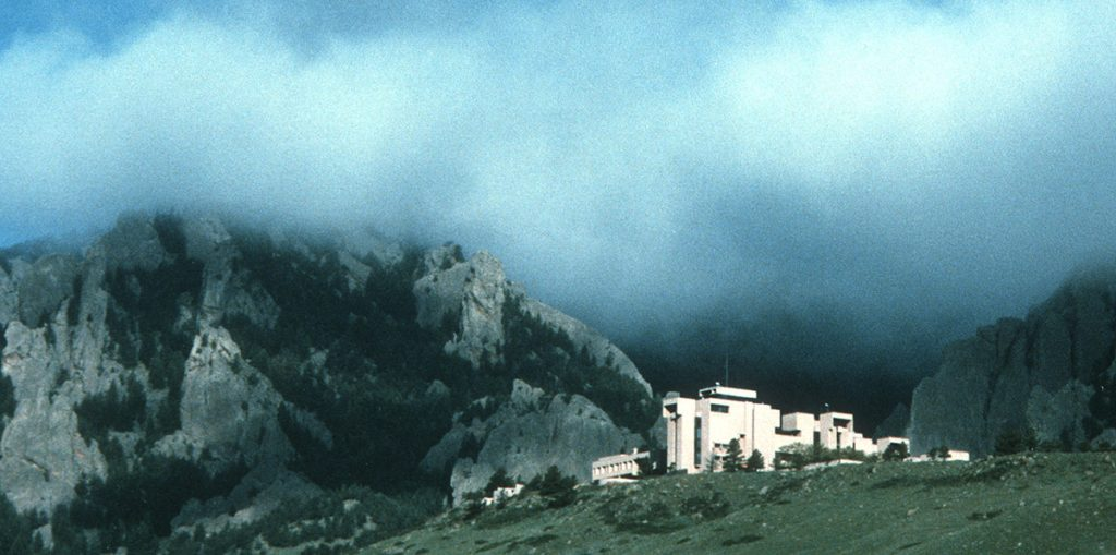 The National Center for Atmospheric Research or NCAR sits on a beautiful bluff in Boulder.