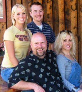 Melanoma survivor Lauren Race with her family