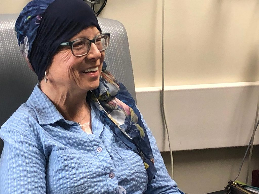 Mary Scott receives chemotherapy at Pikes Peak Regional Hospital