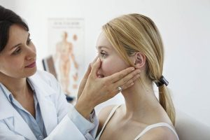 doctor fills facial glands on patient as women's sexual health is important at any stage.