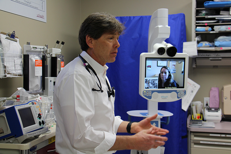 doctor uses telestroke medicine to help reduce health care costs and provide better outcomes for stroke patients.