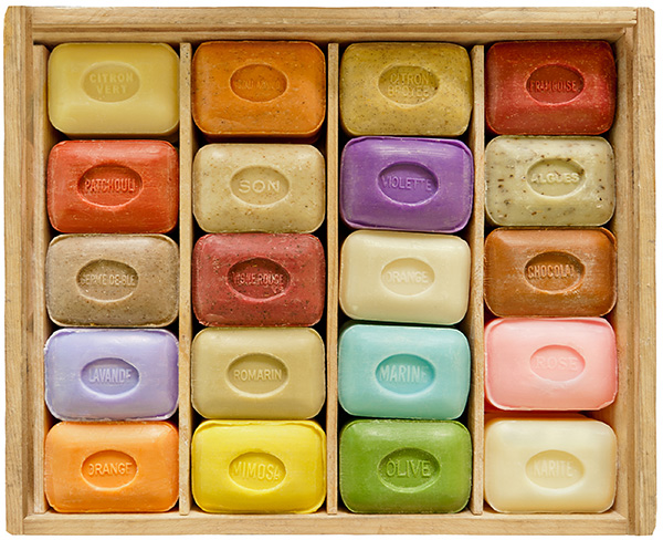 Colorful soaps. Any type of soap will work well against the coronavirus.