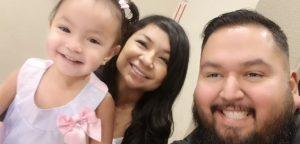 Claudia, Ernesto and 18-month Camila. Photo courtesy of Ernesto Castro.