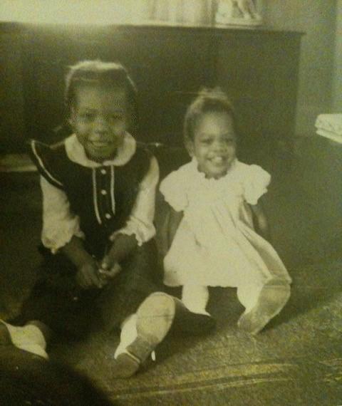 African American COVID-19 survivor Ravi Truman when she was a little girl.