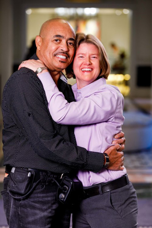 Man and his wife holding eachother, life with LVAD.