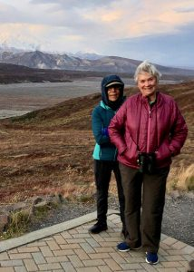 The Dextenza eye insert made all the difference for Martha Eubanks after cataract surgery. Here she poses with her wife, Lucia Guzman, at Denali National Park in Alaska.