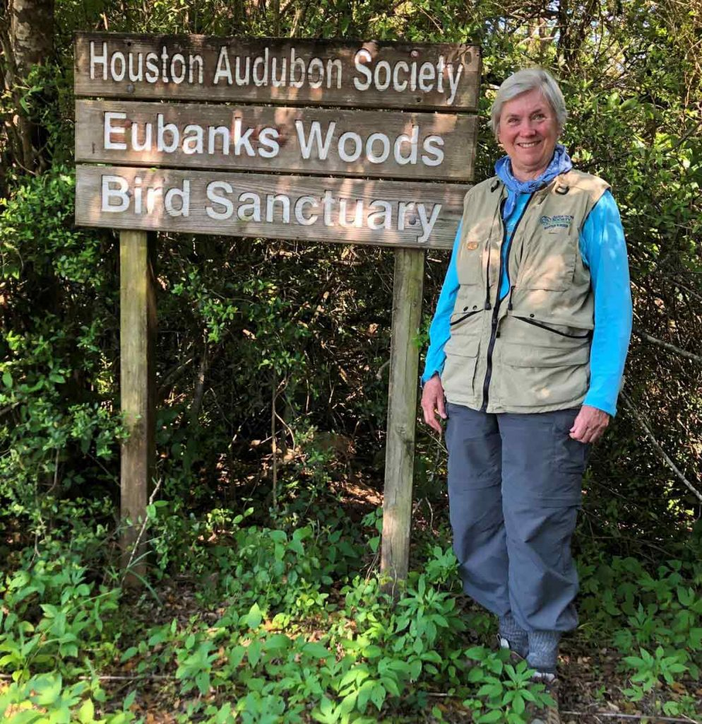 Martha Eubanks is seeing clearly again after cataract surgery and her eyes are not drying out thanks to the Dextenza eye insert. Here, she poses at the Eubanks Woods Bird Sanctuary in Houston