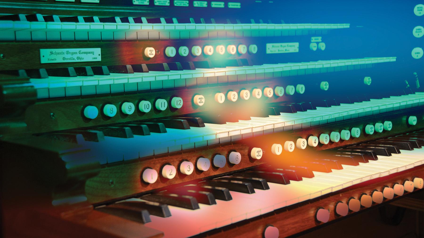 Banner organ keys