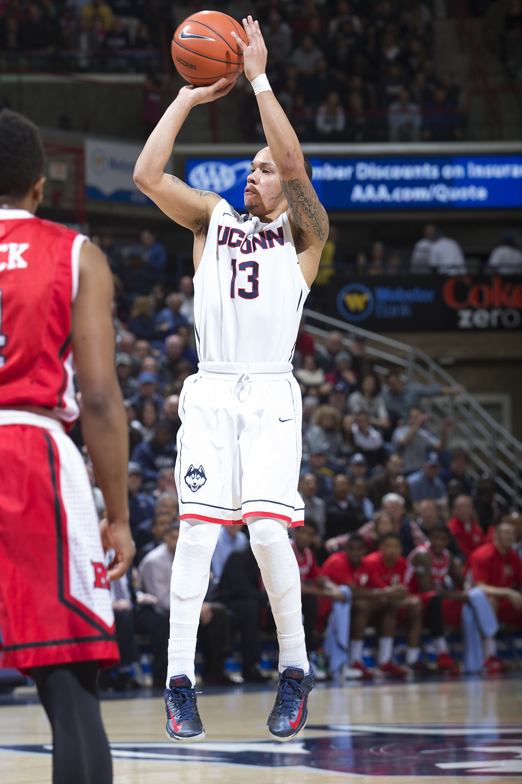 new product b5e38 ee656 Napier Leads UConn to 69-63 Win Over Rutgers - UConn Huskies ...