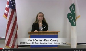 Click here to view a short video of two 4-H award-winning public speeches from 2013