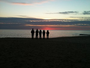 Forget the coffee. 4-H'ers wake up early and smell the sea air - and time for a peaceful silhouette to be captured. Photo by Jody Vasey